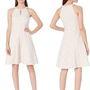 London Times Ivory Fit & Flare Dress NWT 16W